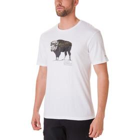 Columbia Muir Pass T-shirt Herrer, white/buffalo camo